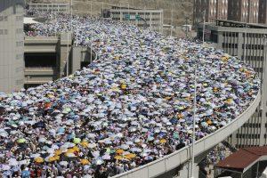 Huge crowds during Hajj