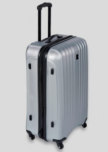 Hard shell suitcases are recommended