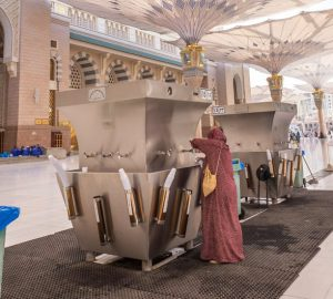 Water is readily available in Makkah and Madinah