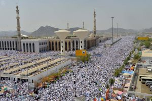 Thousands of pilgrims gather in Arafat during Hajj