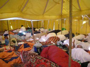 A tent in Arafat