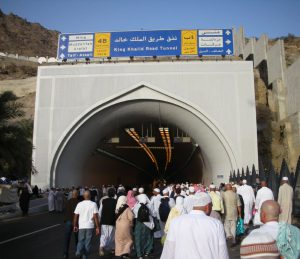 Walking tunnel to Mina