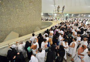 Pilgrims performing Rami